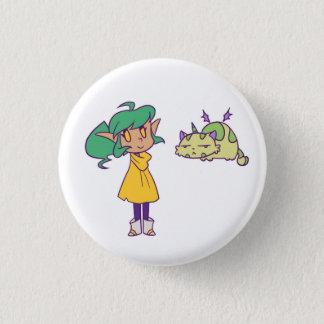 Harpy and Pumpkin 1 Inch Round Button