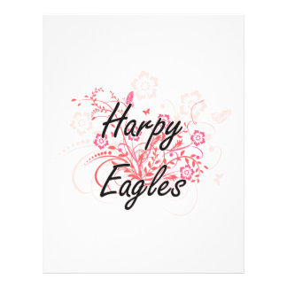 Harpy Eagles with flowers background Full Colour Flyer
