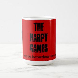 Harpy Games mug.  Caution. Classic White Coffee Mug