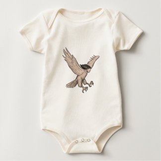Harpy Swooping Tattoo Baby Bodysuit