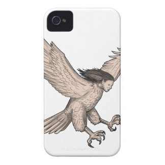 Harpy Swooping Tattoo iPhone 4 Cover