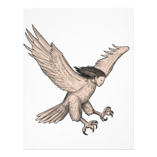 Harpy Swooping Tattoo Letterhead