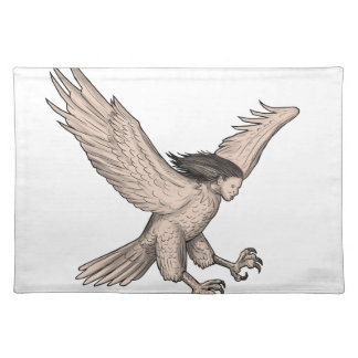 Harpy Swooping Tattoo Placemat