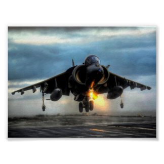 HARRIER AIRCRAFT POSTER