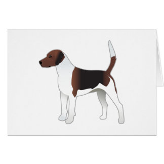 Harrier Basic Breed Hound Dog Illustration Card