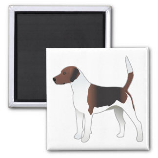Harrier Basic Breed Hound Dog Illustration Magnet