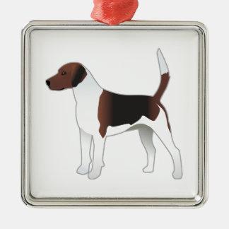 Harrier Basic Breed Hound Dog Illustration Metal Ornament