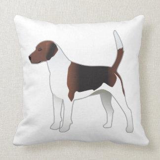 Harrier Basic Breed Hound Dog Illustration Throw Pillow