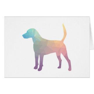 Harrier Beagle Hound Dog Geometric Silhouette Card
