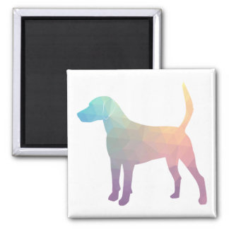 Harrier Beagle Hound Dog Geometric Silhouette Magnet