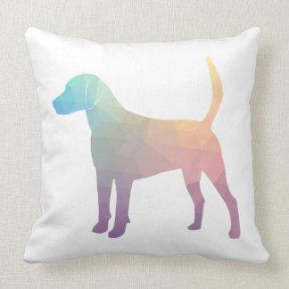 Harrier Beagle Hound Dog Geometric Silhouette Throw Pillow