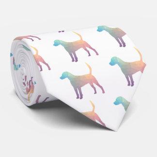 Harrier Beagle Hound Dog Geometric Silhouette Tie