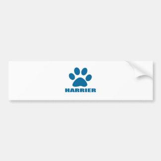 HARRIER DOG DESIGNS BUMPER STICKER