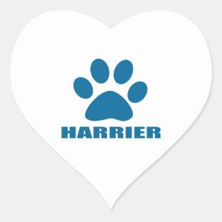 HARRIER DOG DESIGNS HEART STICKER