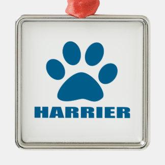 HARRIER DOG DESIGNS METAL ORNAMENT