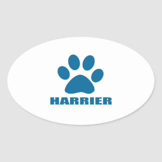 HARRIER DOG DESIGNS OVAL STICKER