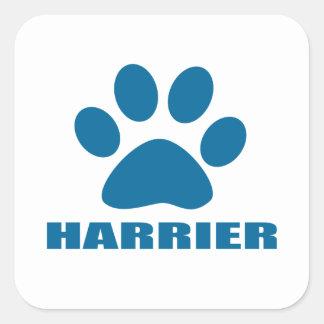 HARRIER DOG DESIGNS SQUARE STICKER
