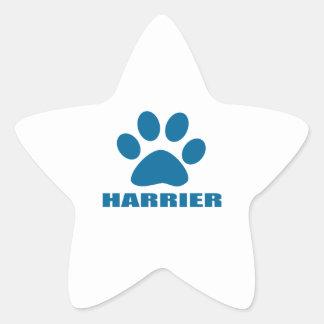 HARRIER DOG DESIGNS STAR STICKER