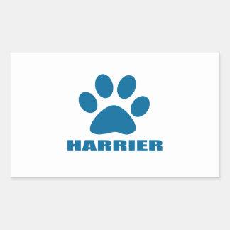 HARRIER DOG DESIGNS STICKER