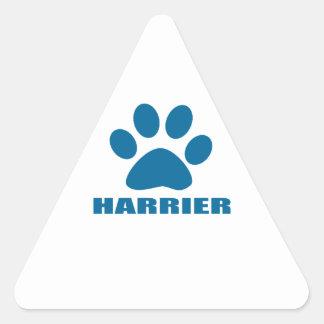 HARRIER DOG DESIGNS TRIANGLE STICKER