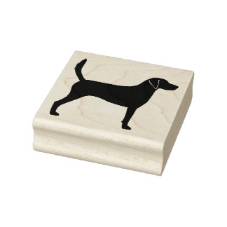 Harrier Dog Silhouette Rubber Stamp