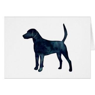 Harrier Hound Beagle Black Watercolor Silhouette Card