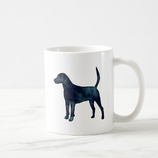 Harrier Hound Beagle Black Watercolor Silhouette Coffee Mug