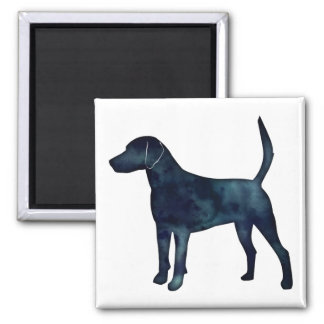 Harrier Hound Beagle Black Watercolor Silhouette Magnet