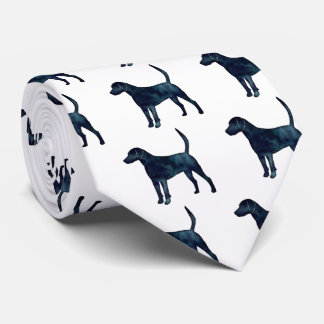 Harrier Hound Beagle Black Watercolor Silhouette Tie
