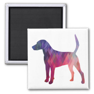 Harrier Hound Dog Geometric Pattern Silhouette Magnet