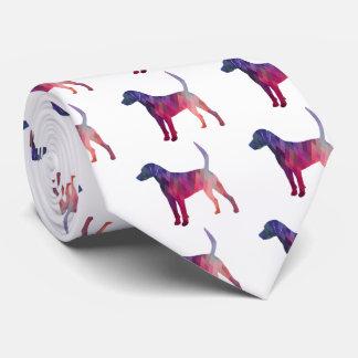 Harrier Hound Dog Geometric Pattern Silhouette Tie