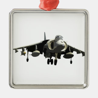 Harrier Jet Metal Ornament