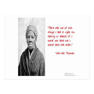 "Harriet Tubman ""Liberty Or Death"" Quote Gifts Postcard"