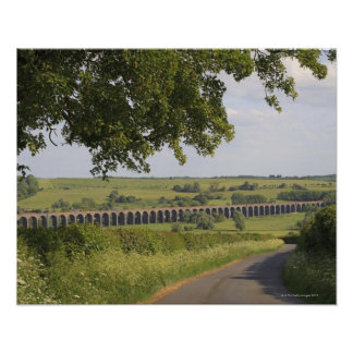 Harringworth Viaduct, Rutland.  Also known as Poster