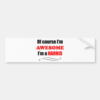 Harris Awesome Family Bumper Stickers