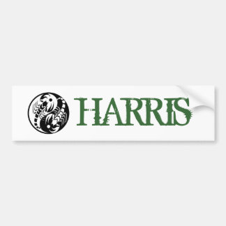 HARRIS BUMPER STICKER