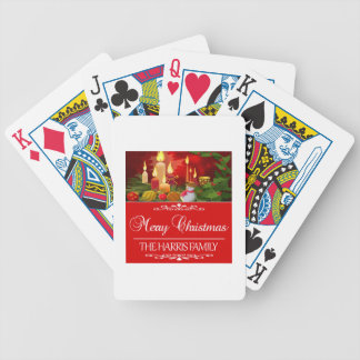 HARRIS FAMILY CHRISTMAS DESIGNS BICYCLE PLAYING CARDS