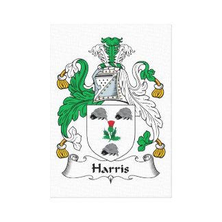 Harris Family Crest Canvas Print