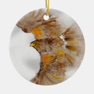 Harris Hawk, Bird of Prey Ceramic Ornament