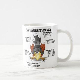 Harris Hawk Cartoon Classic White Coffee Mug