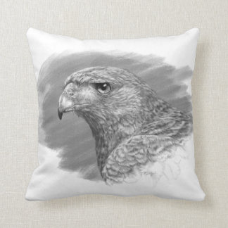 Harris Hawk Drawing Throw Pillow