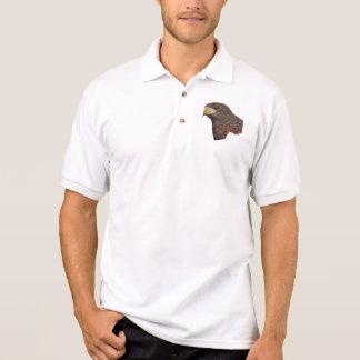 Harris Hawk Faux Embroidery Polo Shirt