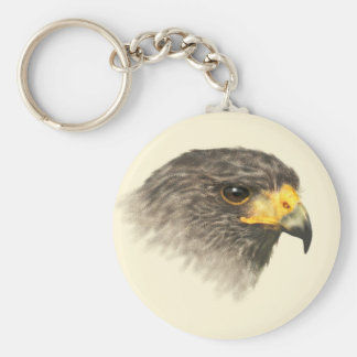 Harris Hawk - Mixed Medium Keychain