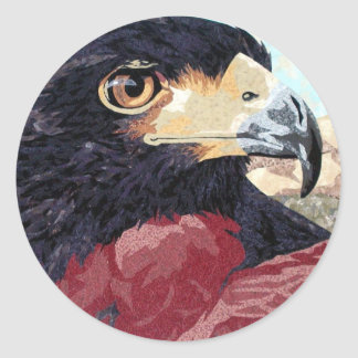 Harris Hawk textile Classic Round Sticker