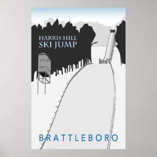 Harris Hill Ski Jump Retro Poster