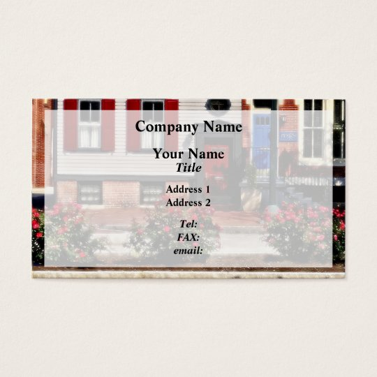Harrisburg PA - Roses on State Street Business Card