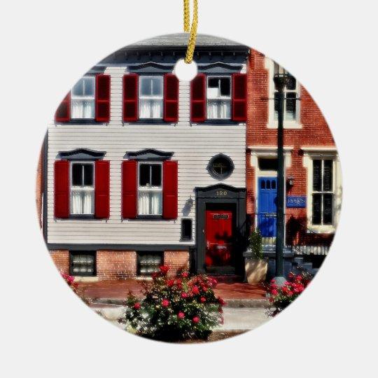 Harrisburg PA - Roses on State Street Ceramic Ornament