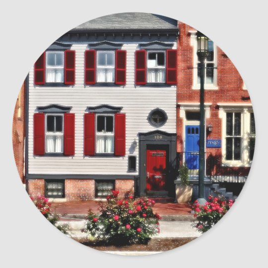 Harrisburg PA - Roses on State Street Classic Round Sticker