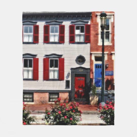 Harrisburg PA - Roses on State Street Fleece Blanket