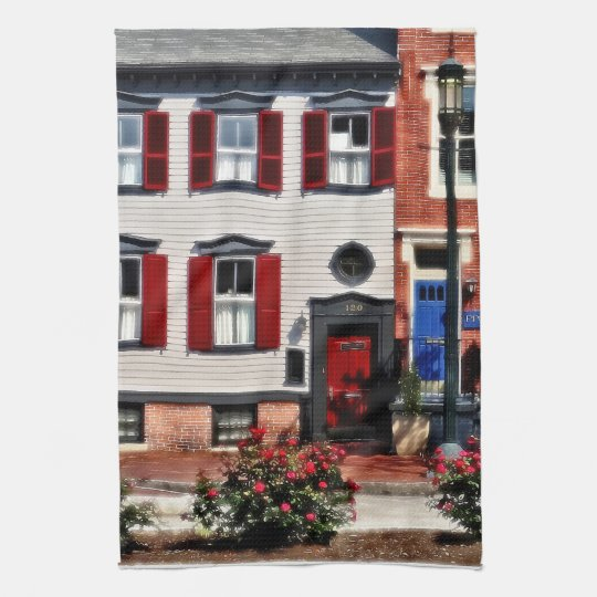 Harrisburg PA - Roses on State Street Kitchen Towel